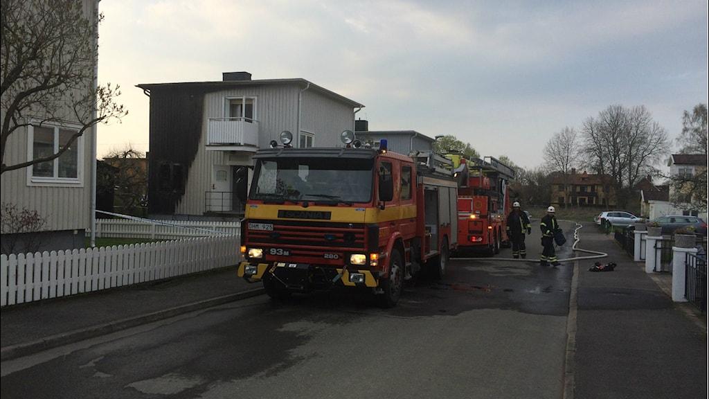 brand hus skada brand