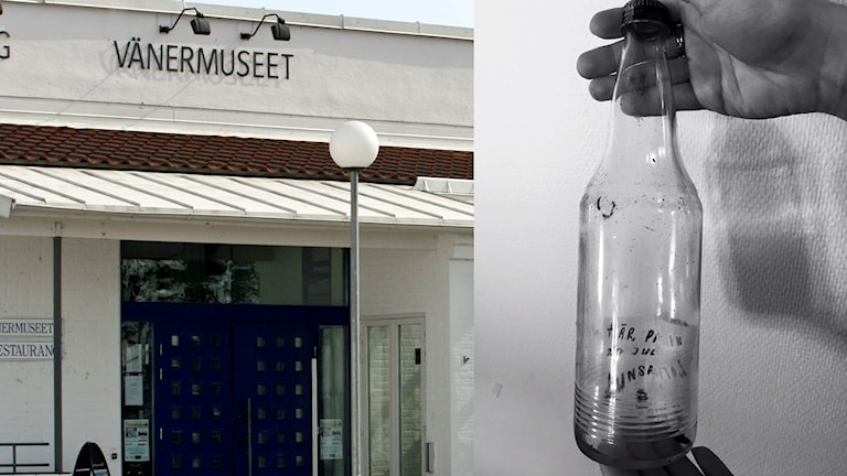 En flaskpost som finns på Vänermuseet.