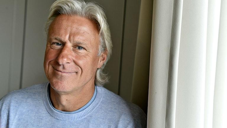 Före detta tennisspelaren Björn Borg fotograferad i samband med presentationen av Tommy Engstrands bok 'Mästare jag mött' Foto: Anders Wiklund/TT