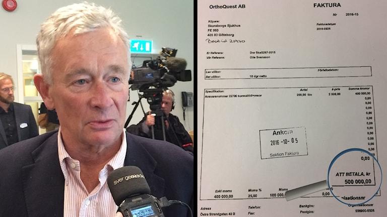 Professor Olle Svensson och en faktura