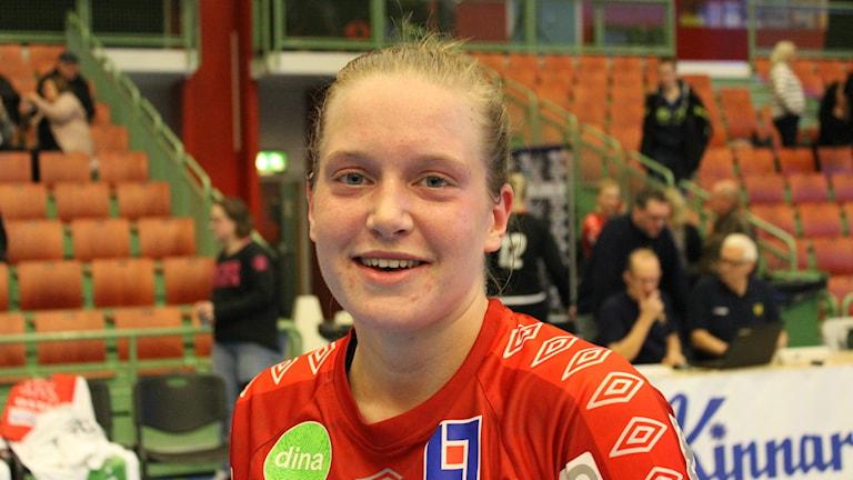 Matchhjälten Johanna Flygelholm, Skövde HF. Foto Tommy Järlström P4 Sveriges Radio.