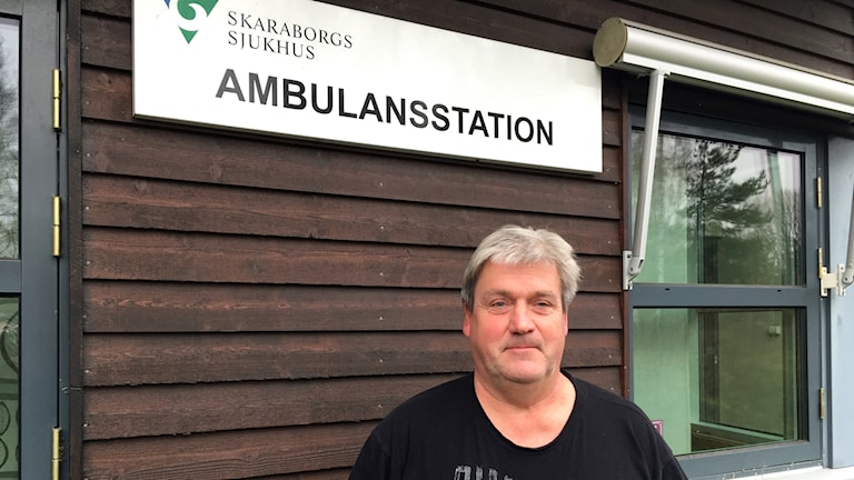 Lars Karlsson är ambulanssjukvårdare och skyddsombud på ambulansen i Mariestad.
