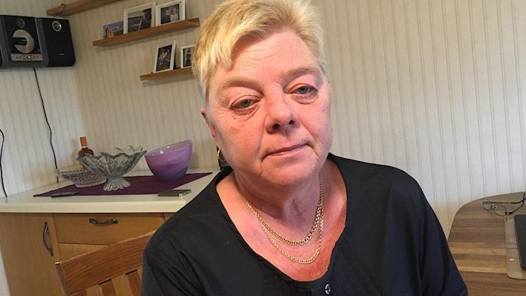 Carina Bergman i sitt kök