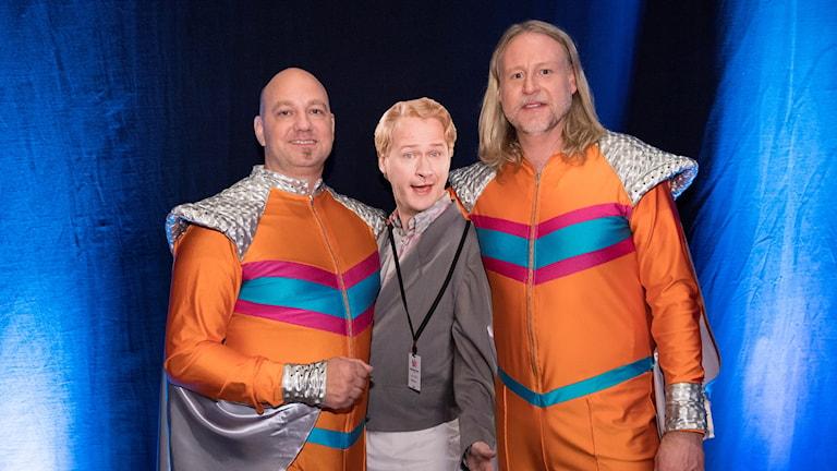 Dansbandet Rolandz med sångaren Robert Gustafsson