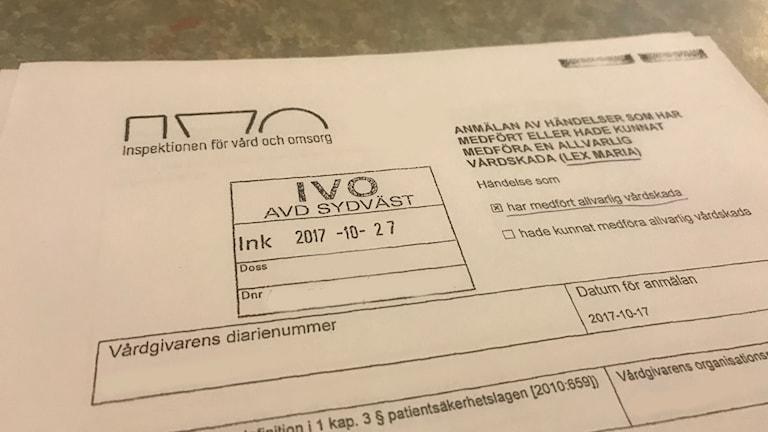 Ivo-anmälan