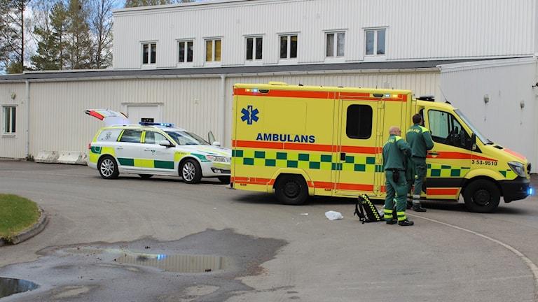 Olyckan inträffade vid personalparkeringen på Sommarland.