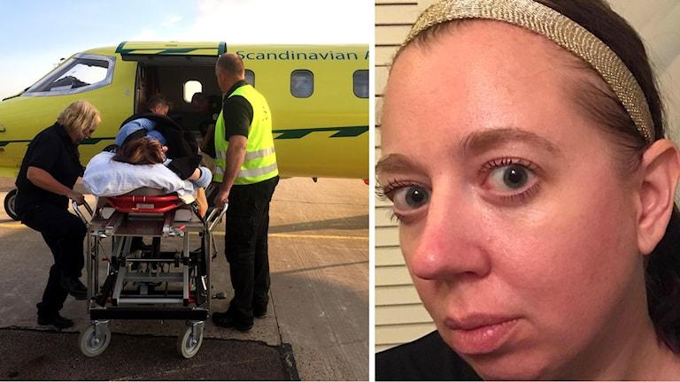 Ambulansflyg och Jenny Alving
