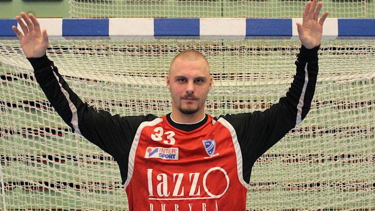 Michael Andersson gjorde comeback efter skada. Foto Arkiv Tommy Järlström P4 Sveriges Radio.