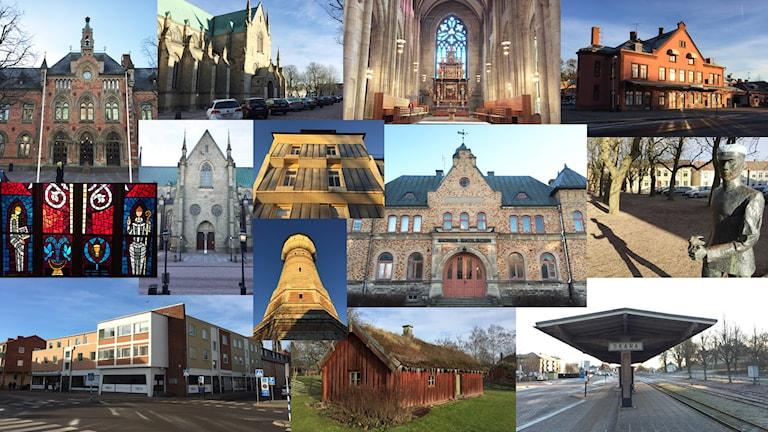 Montage av bilder från Skara