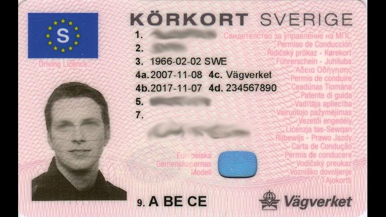 Ett svenskt körkort.