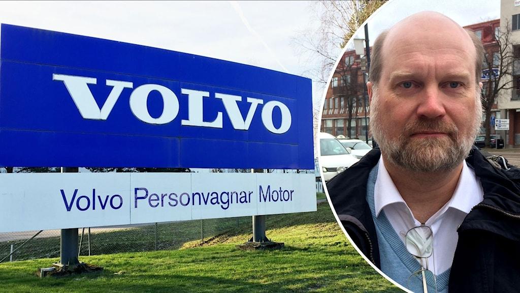 Montage med Volvo Cars och Mikael Wickelgren.