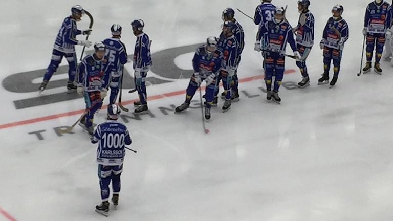 David Karlsson tillsammans med sina lagkamrater.