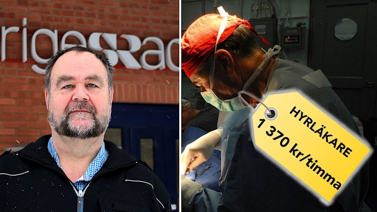 Andreas Möhlendick och en hyrläkare med en prislapp