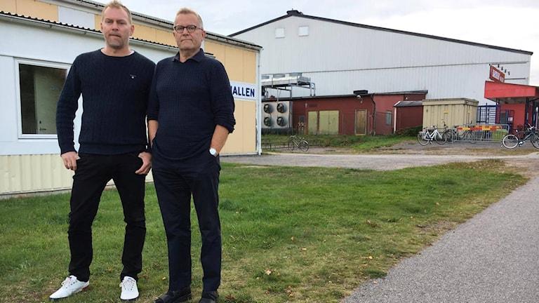 Bois ordförande Mikael Ericson och klubbchefen Jonny Odhnér.