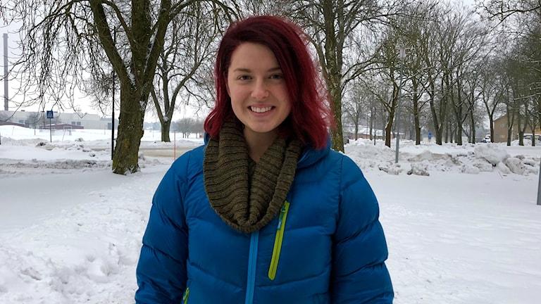 Ida Lindström på Trängregementet i Skövde.
