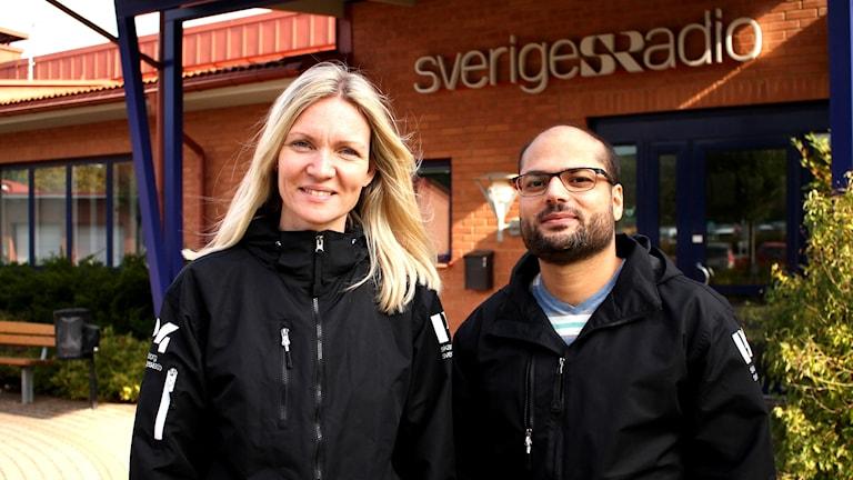 Linnéa Frimodig och Mohammad Marwa