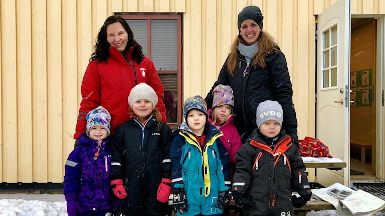 Pia Kardetoft, Ewa Bergström, Olivia Nolgren, Isolde Björnsdotter Eliasson, Astor Eriksson, Maja Vikander, Jamie Ödberg och Viktor Djäken.