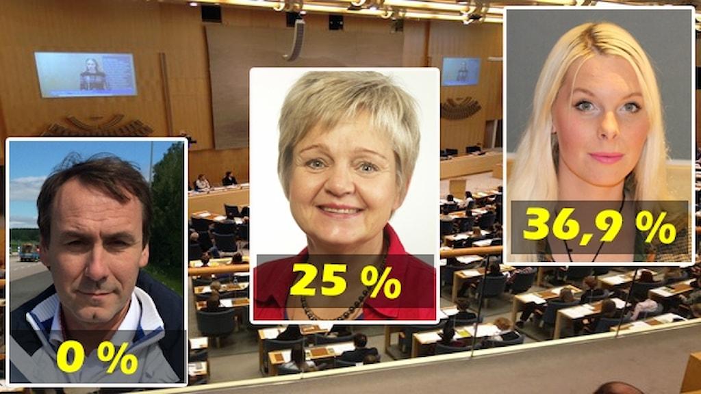 Fotomontage politiker