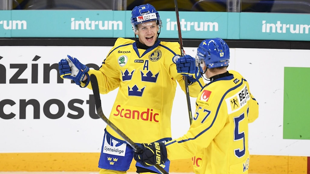 Max Friberg gjorde sitt första mål i Tre Kronor i sin fjärde landskamp.