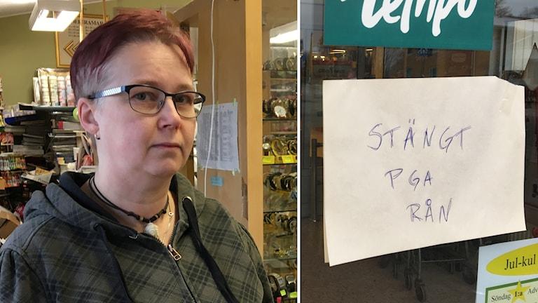 Susanne Adolfsson, butiksinnehavare i Järpås.