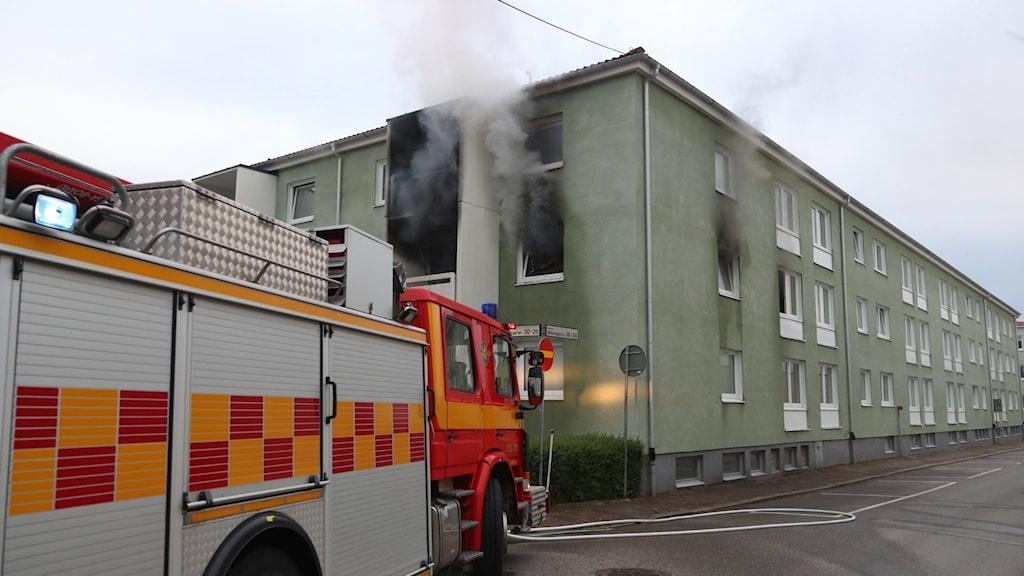 Lägenhetsbrand Lidköping