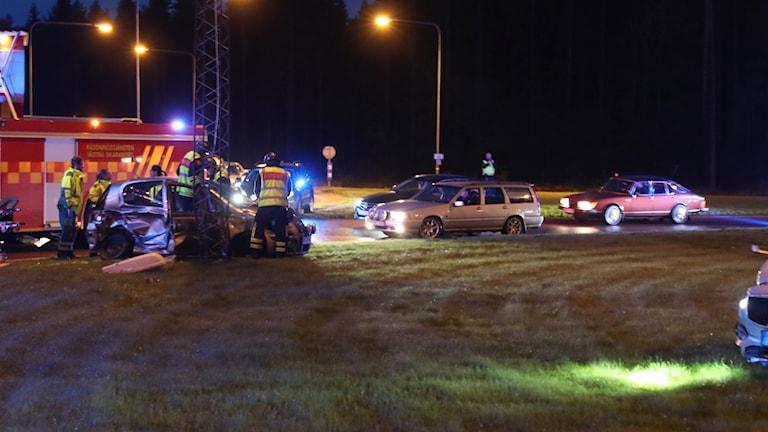 Olycka Skararondellen i Lidköping