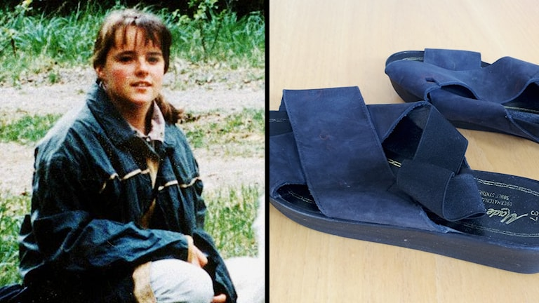 Helena Andersson och hennes skor.