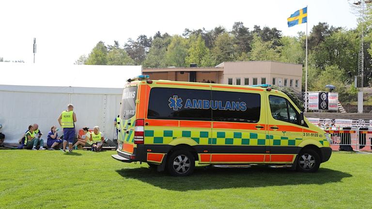 Sjukvårdsteamet under Göteborgsvarvet.