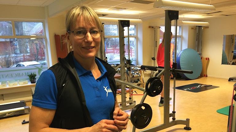 Annelie Hallqvist jobbar som fysioterapeut i Skövde.