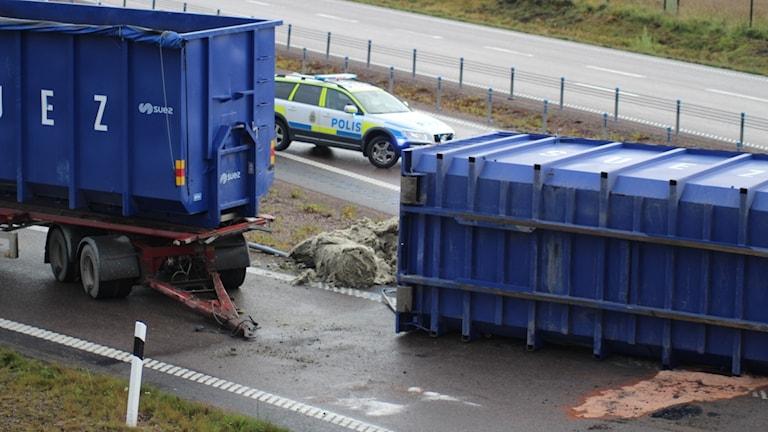 Olycka E20 Götene