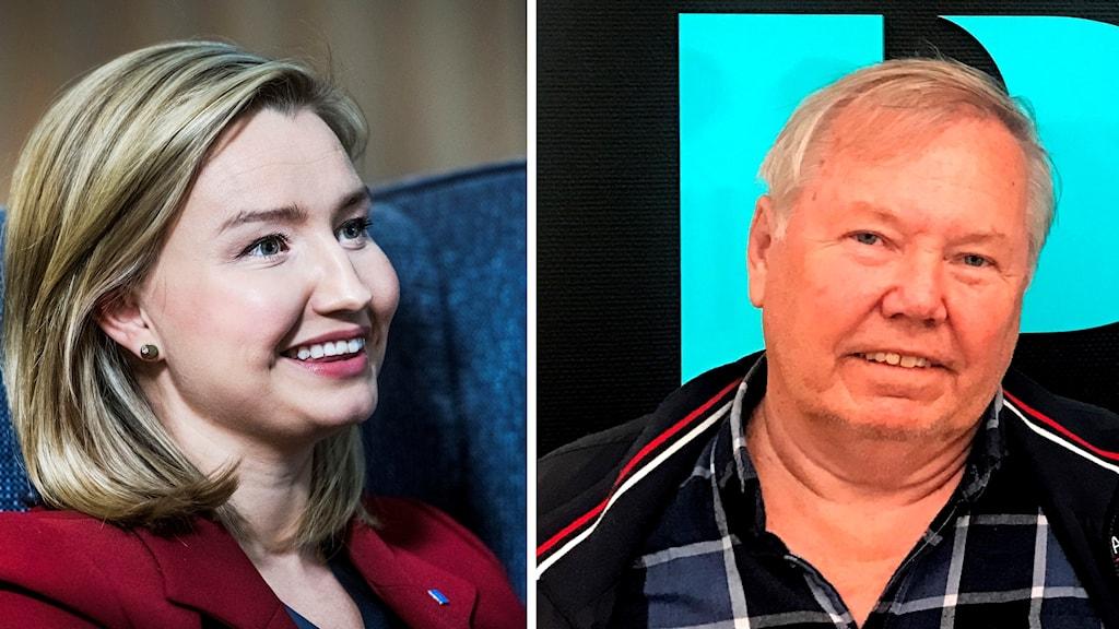 Ebba Busch Thor och Bert Karlsson