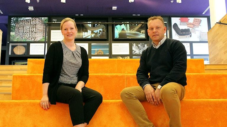 Magdalena Svedlund, vd för näringslivsbolaget InTibro, och Per Garenius, näringslivschef i Tibro kommun.