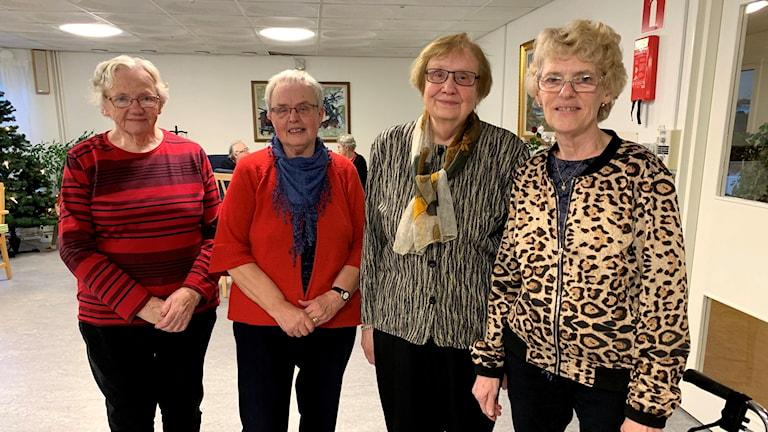 Wallis Karlsson, Inga Andersson, Ingrid Andersson och Else-Maria Lippold