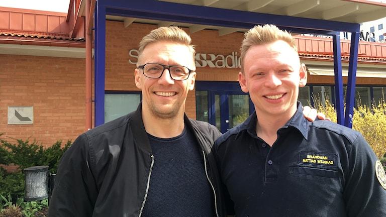 Johan Wahlström och Mattias Wejshag på räddningstjänsten