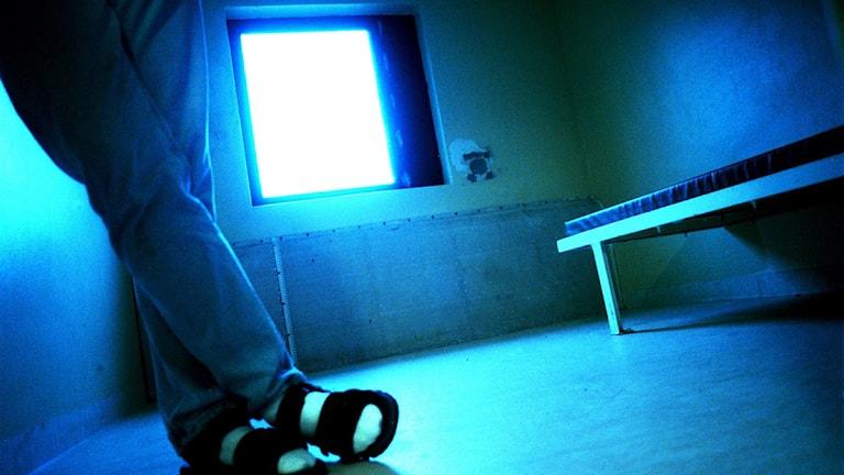 En isoleringscell på en ungdomsinstitution. Foto: Agnes Wikman/Scanpix