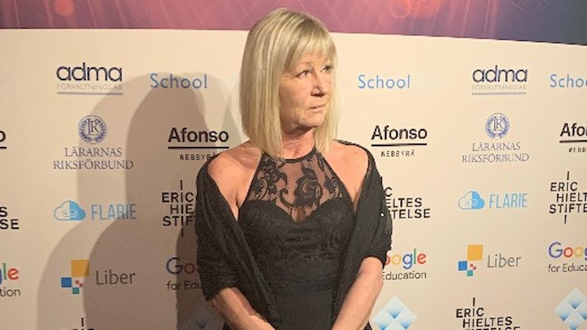 Ewa Sunnercrantz vid Lärargalan 2019.