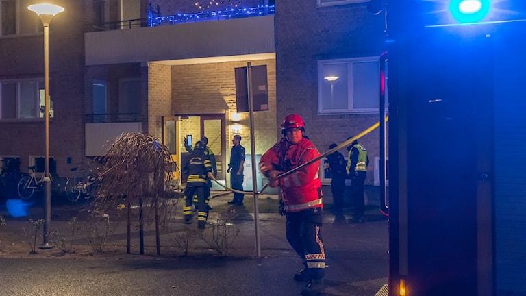 Lägenhetsbrand i Lidköping