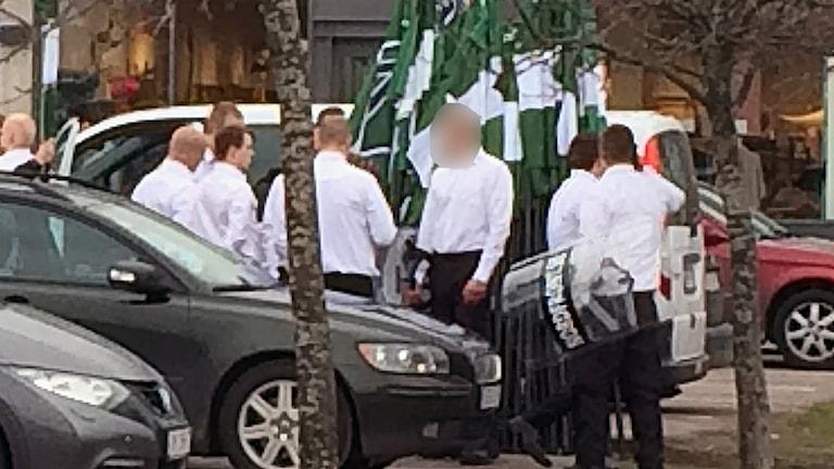 nazistdemonstration Borlänge första maj 2016