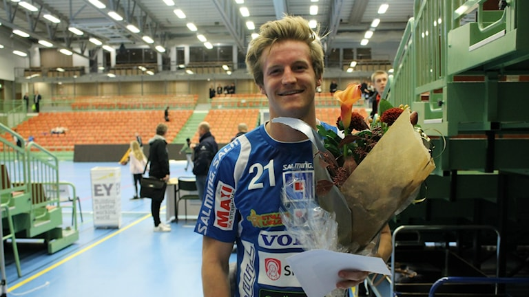 Tiomålsskytten Alfred Ehn, IFK Skövde, blev vald till matchens lirare efter segern hemma mot OV Helsingborg.