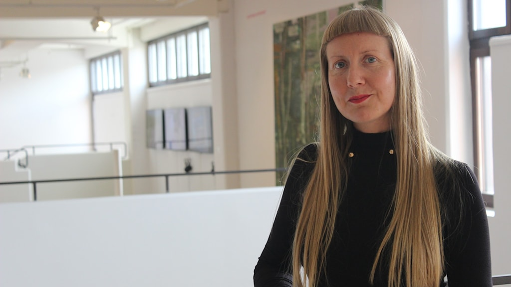 Mette Muhli på Konstmuseet i Skövde.