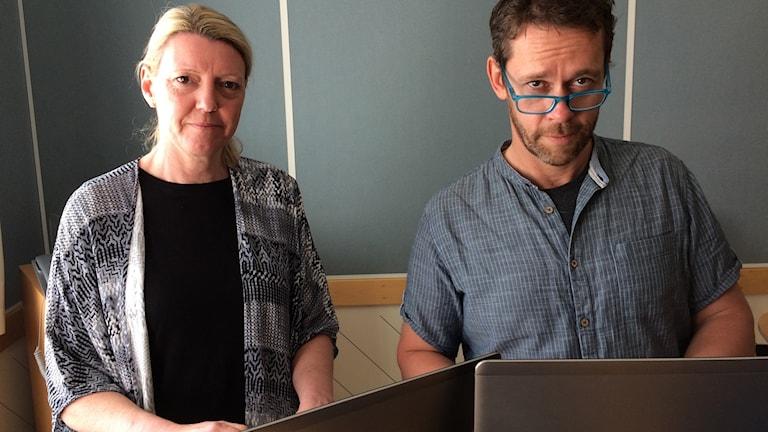 Reportrarna Pernilla Wadebäck och Mats Öfwerström