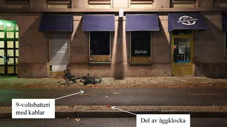 Bombdådet utanför Syndikalisternas lokal