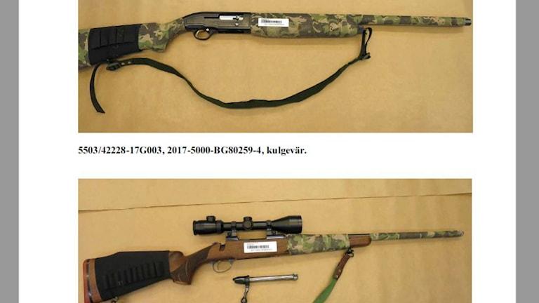 Polisen beslagtog gevär