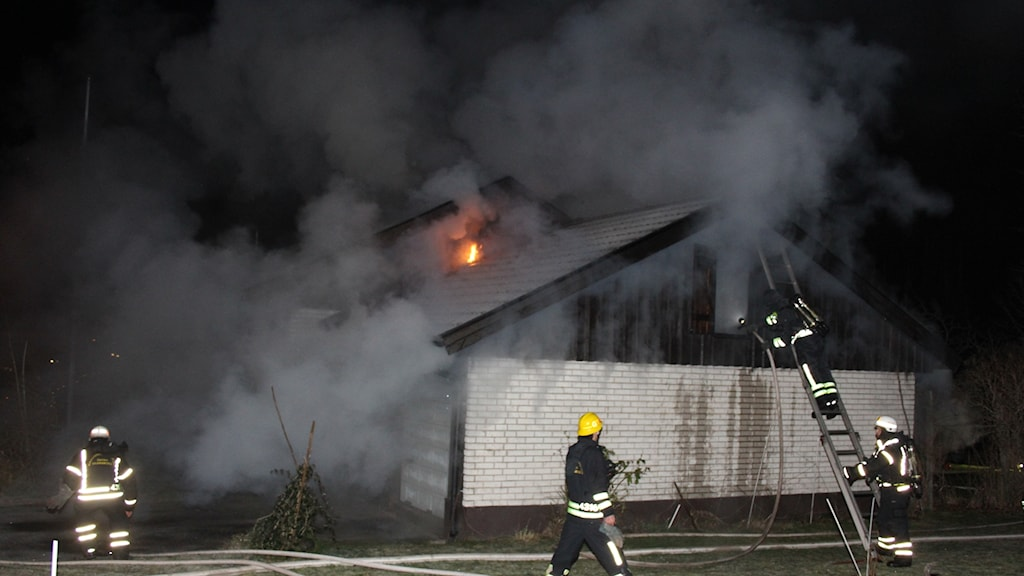 Villa brann i Gullspång på måndagseftermiddagen