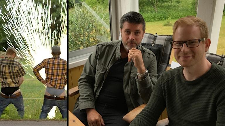 Jon Lönn och Andreas Magnusson i Kass Humor.