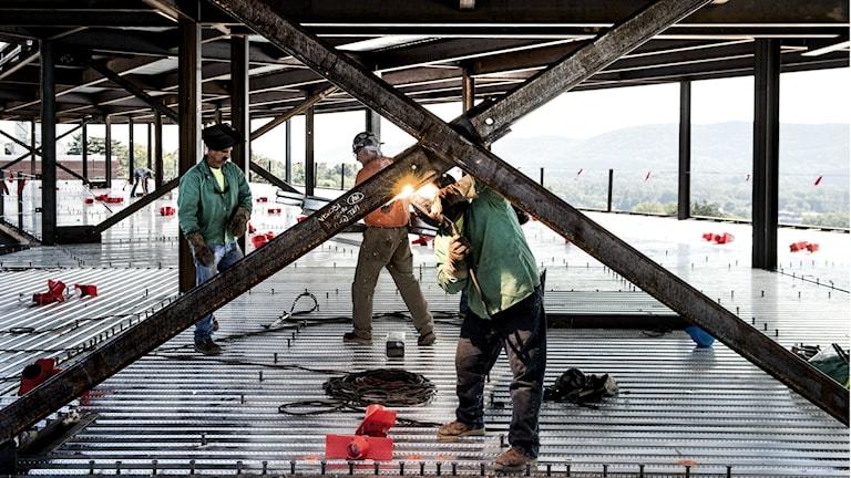 byggarbete arbete arbetare