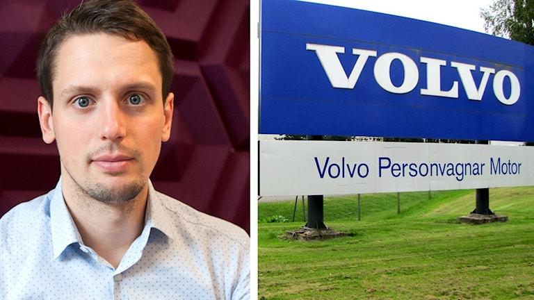 Victor Jensen och Volvoskylt
