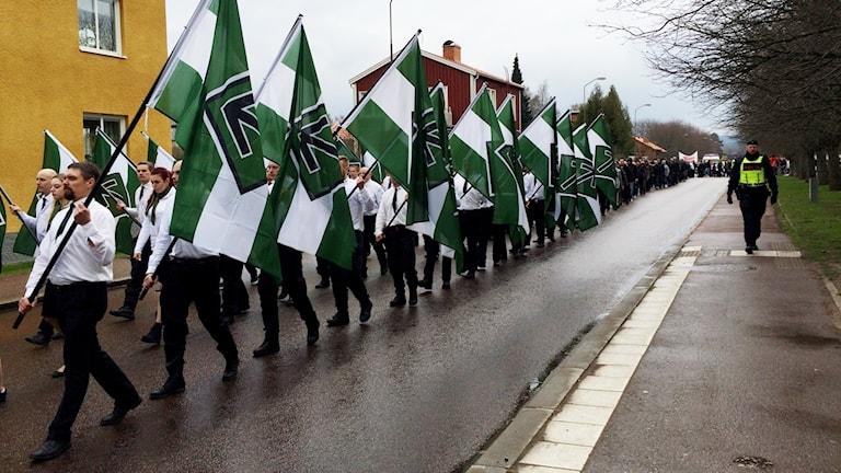Nazisttåg Nordiska motståndsrörelsen Borlänge