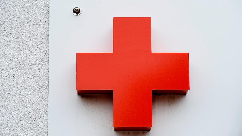 Symbolen för organisationen Röda Korset.
