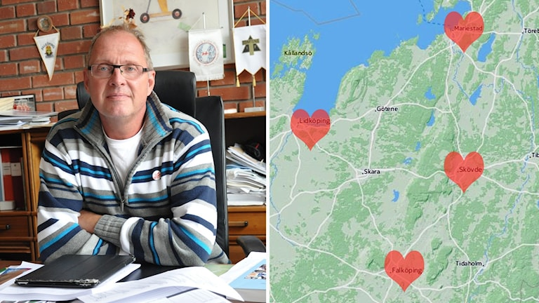 Conny Johansson (S) och en karta.
